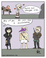 The Witcher 3, doodles 350 by Ayej