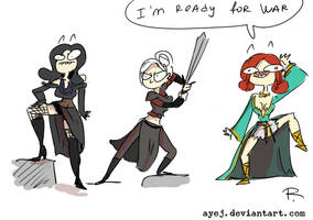 The Witcher 3, doodles 351 by Ayej