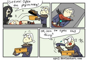 The Witcher 3, doodles 352 by Ayej