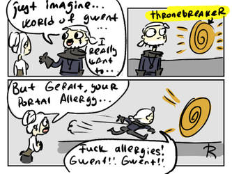 The Witcher 3, doodles 367 by Ayej