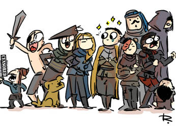 Thronebreaker, doodles 6 by Ayej