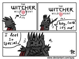 The Witcher 3, doodles 375 by Ayej