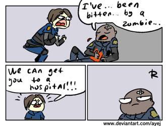Resident Evil 2 remake, doodles 6 by Ayej