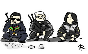 The Witcher 3, doodles 382 by Ayej
