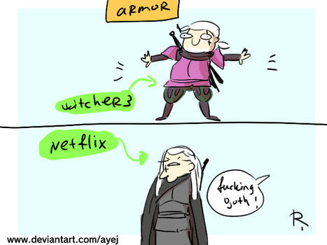 The Witcher 3, doodles 447 by Ayej