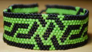 Celtic Peyote Stitch Bracelet by pocketfuloftreasures