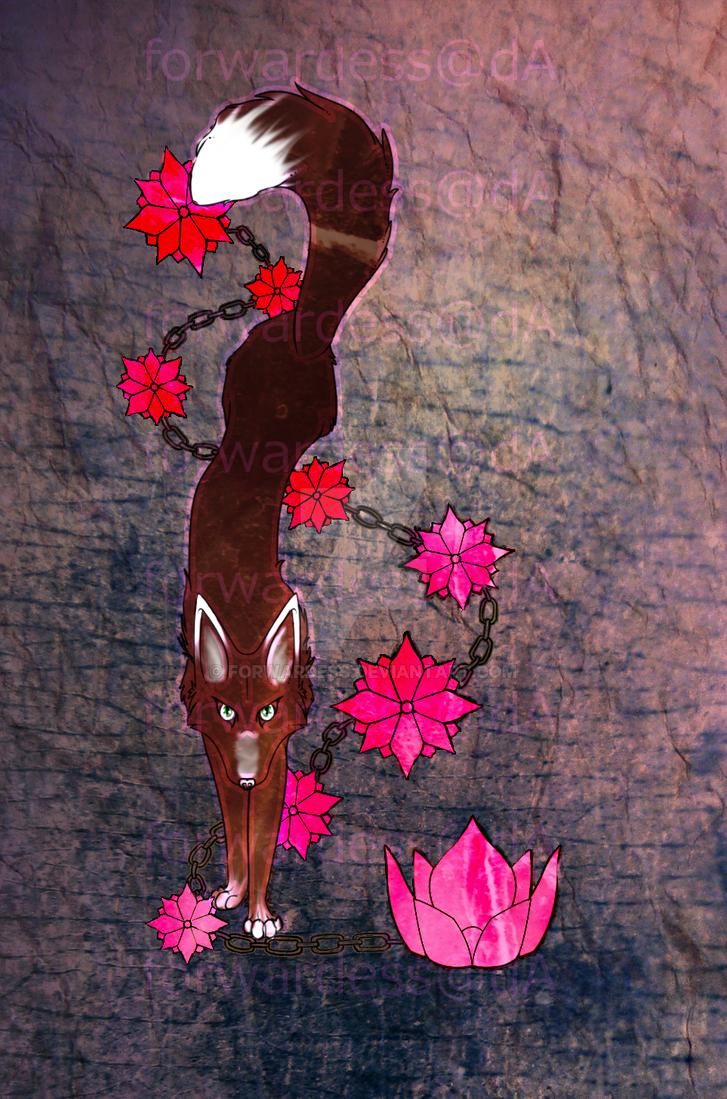 Fox Blossom Tattoo by Forwardess