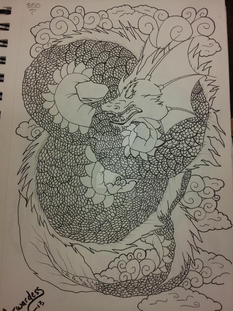 Dragon tattoo by Forwardess