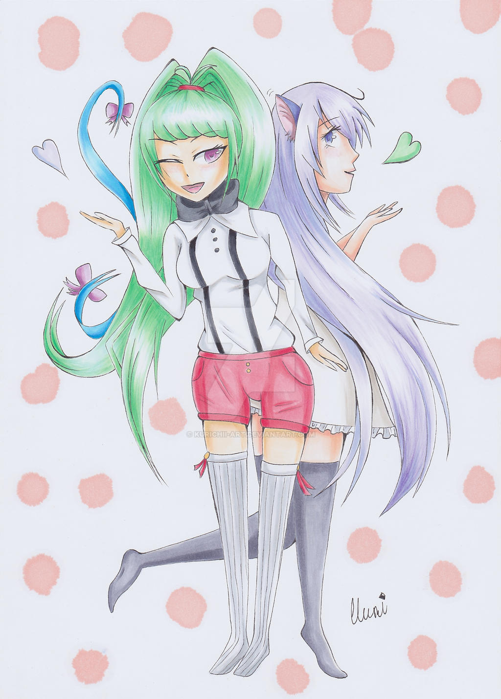 Reoni and Yumi (with Speedpaint) by CrystalMelody-FT