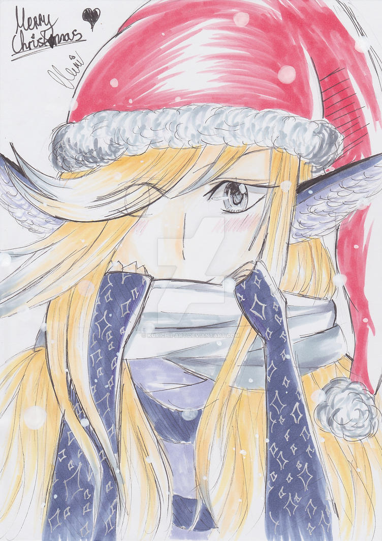Reeze (OC) | Christmas scribble (with speedpaint) by CrystalMelody-FT