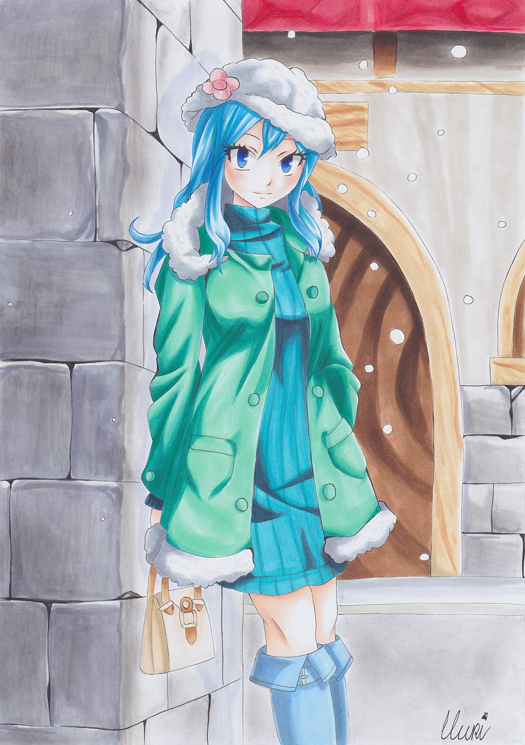 Juvia ~ waiting in the snow by CrystalMelody-FT