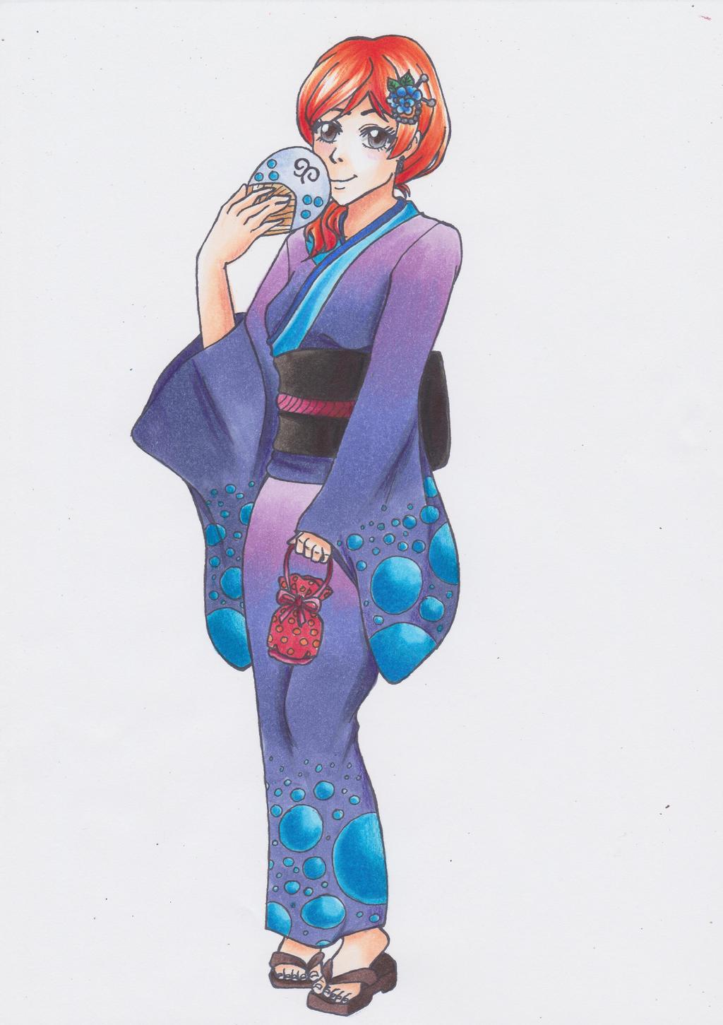 Collaboration with Shiroichi Art | Kimono Girls by CrystalMelody-FT