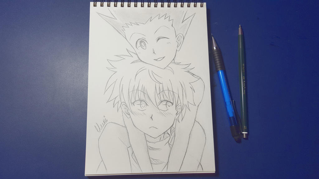 Gon and Killua - scribble by CrystalMelody-FT