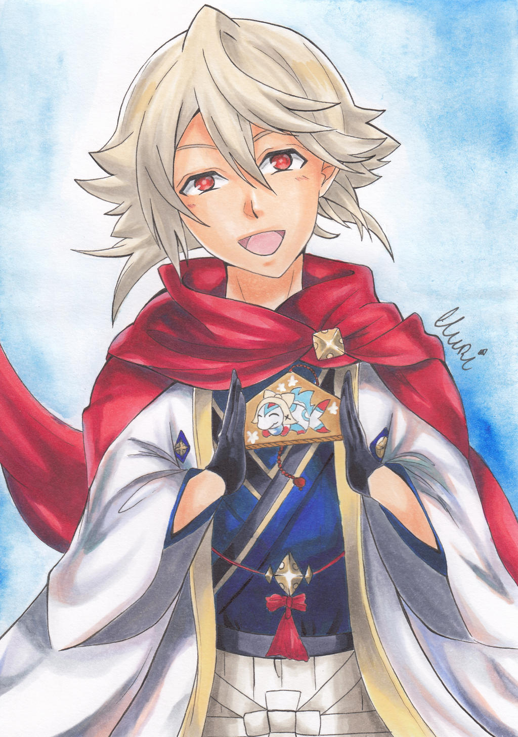 New Years (Male) Corrin by CrystalMelody-FT