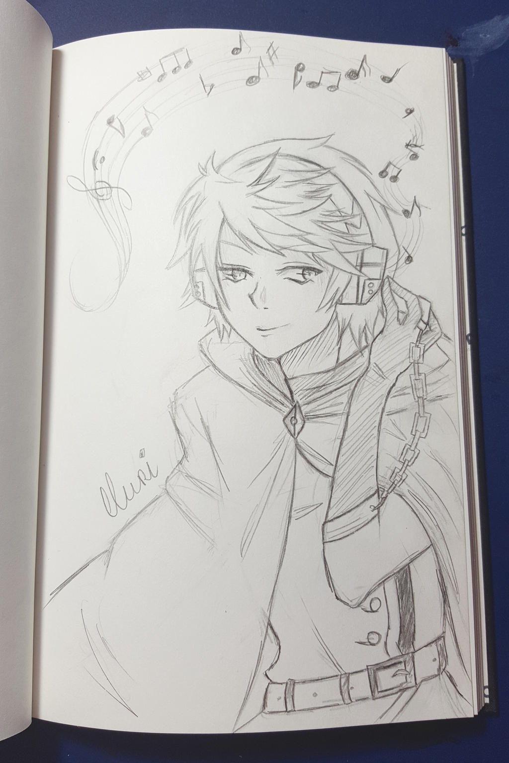 Raiden (OC) scribble by CrystalMelody-FT