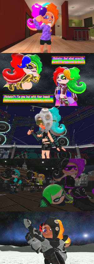 Reversed Multi-Colored Octoling Hair
