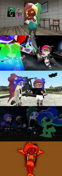 Loose Multi-Colored Octoling Hair