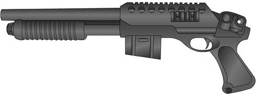 Clip fed shot gun by Live-Wire