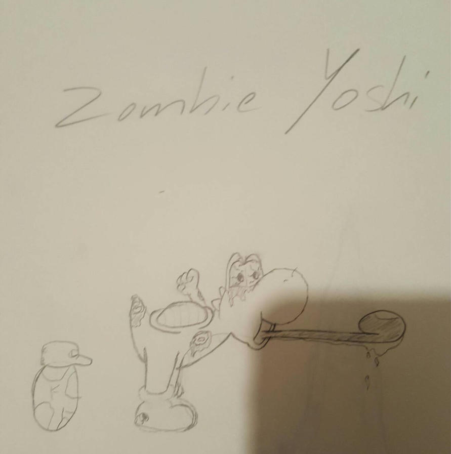First draft Charater Avatar Zombie Yoshi by Live-Wire