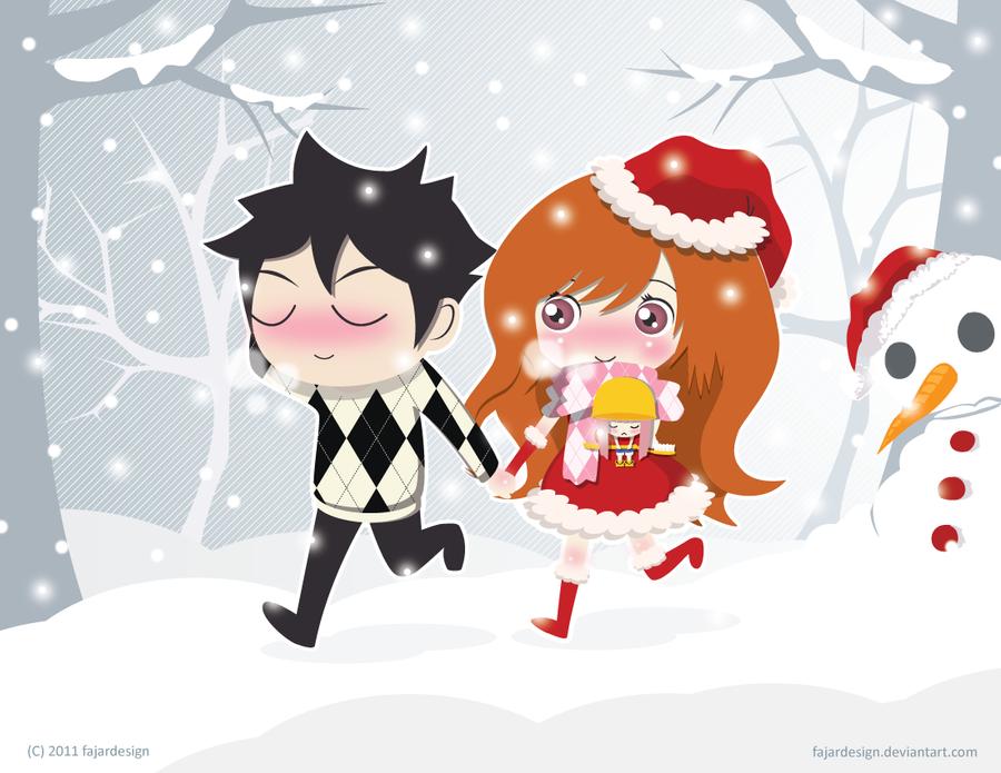 kukki-chanz contest : go outside when snow falls by fajardesign