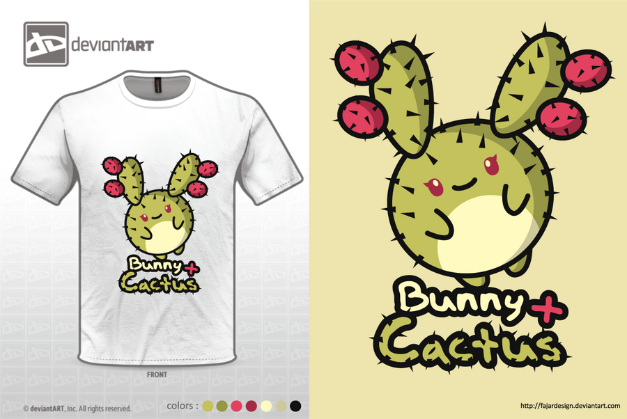 Bunny + Cactus by fajardesign