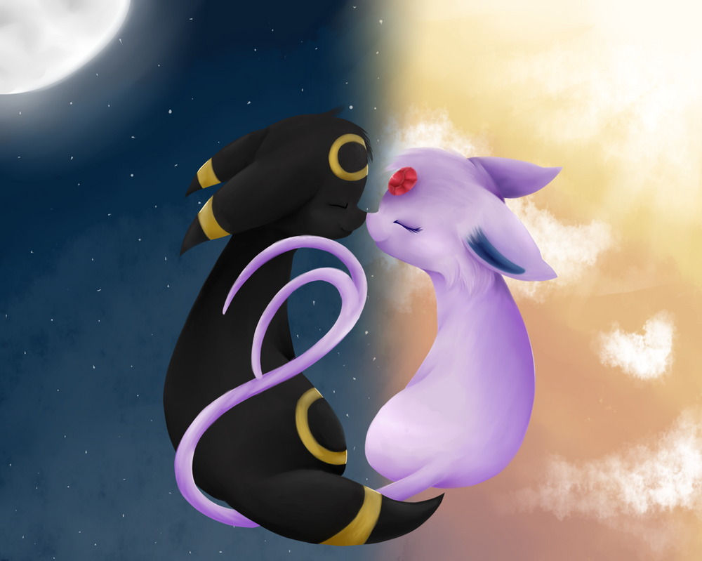 Umbreon And Espeon Love Story Umbreon and Espeon by ...