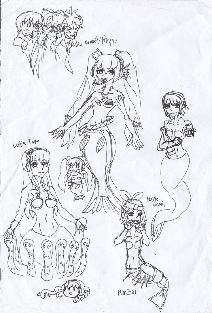 Speed Sketch: Vocaloid Seafood by huannbinimbol