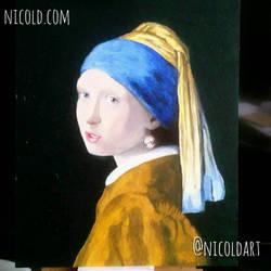 Vermeer Girl With Pearl Earring Study