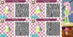 Animal Crossing: New Leaf QR Code - Fluttershy by MysteryMoonbeam