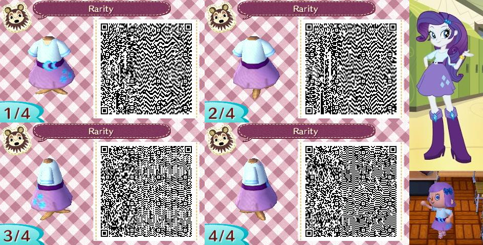 Animal Crossing  New Leaf QR Code - Rarity by MysteryMoonbeamQr Codes Animal Crossing New Leaf Dresses