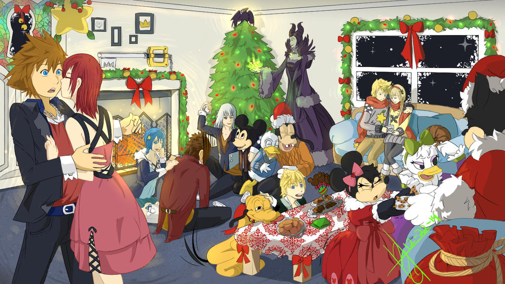 A Kingdom Hearts Christmas by khkairi12 on DeviantArt