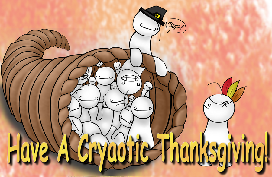 Cryaotic Thanksgiving by DeathlingDog