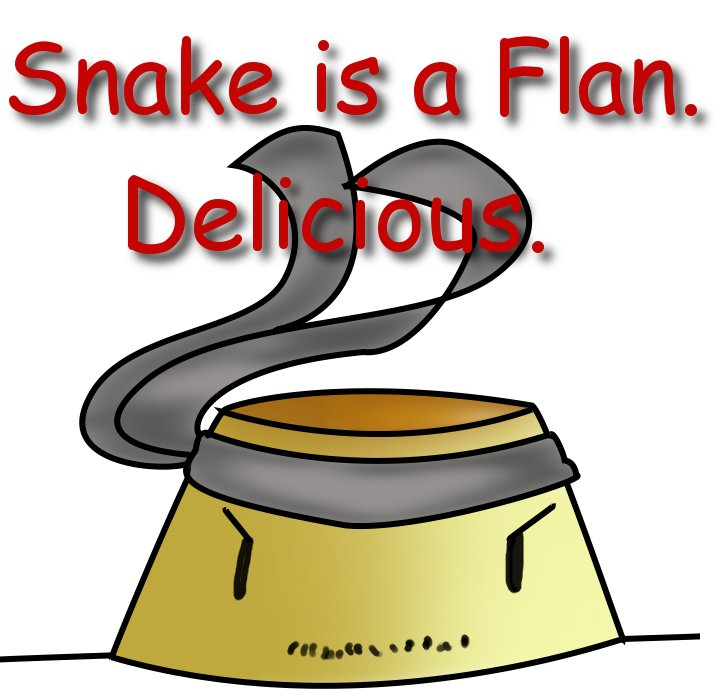 Snake is a Flan by DeathlingDog