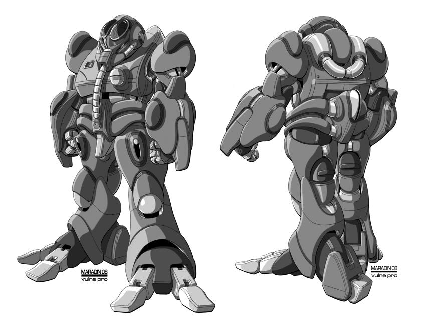 ROBOTECH Blue Bioroid by Nidaram
