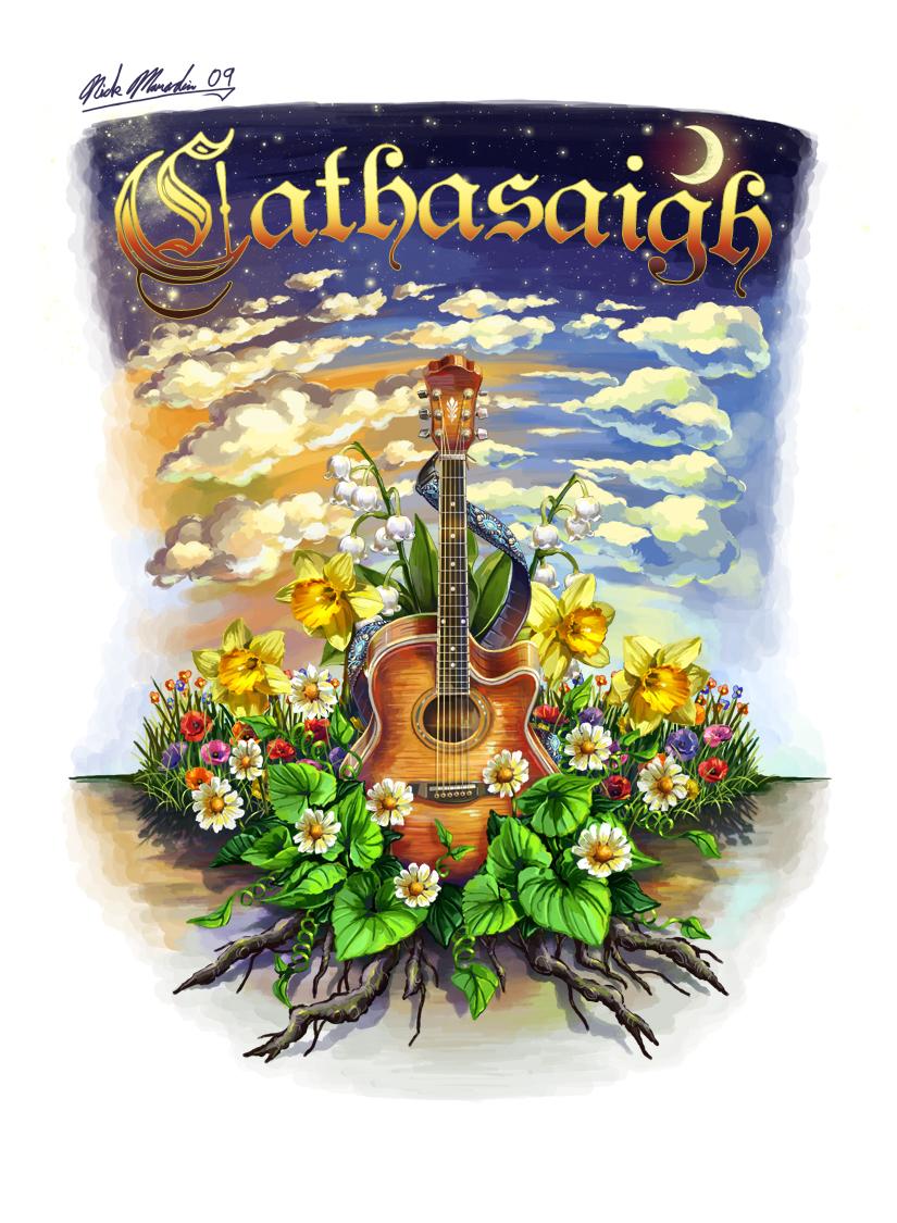 Cathasaigh Guitar in Leaves by Nidaram