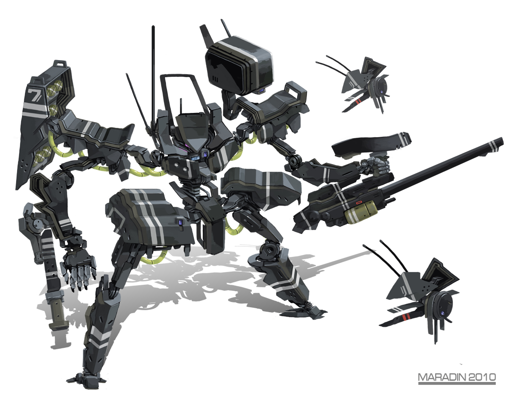 Black Tank Mecha by Nidaram