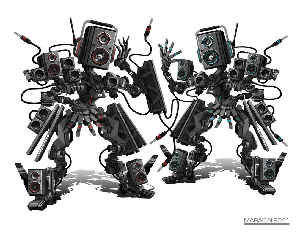 SpekrFreks DJ Robots by Nidaram
