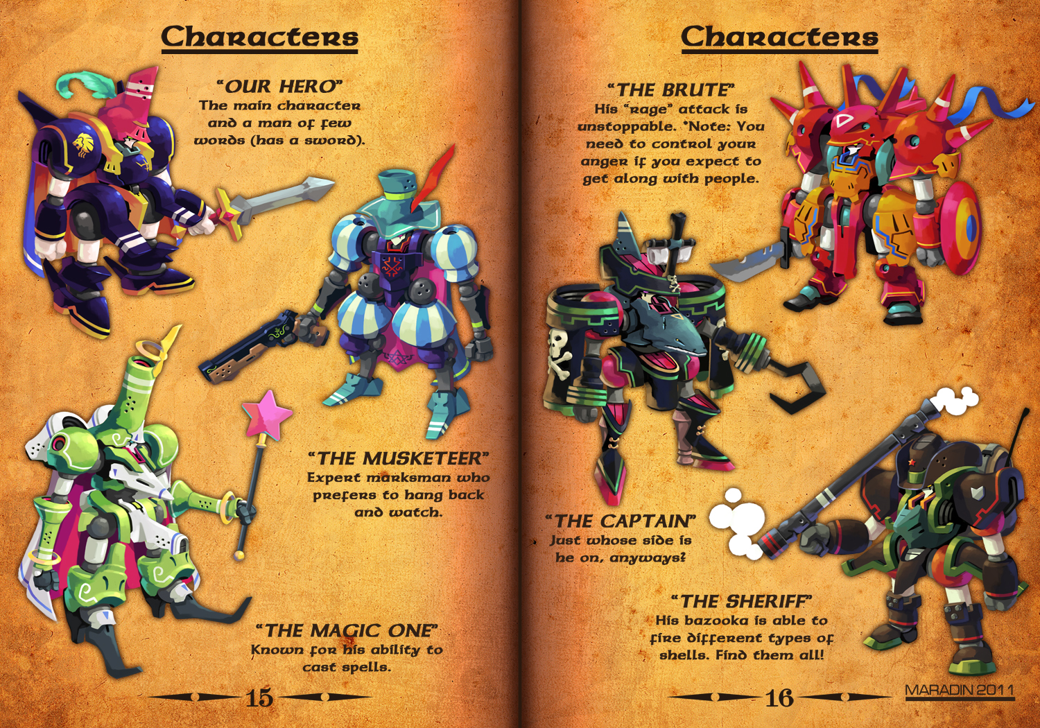 RPG MECHA CHARACTERS by Nidaram