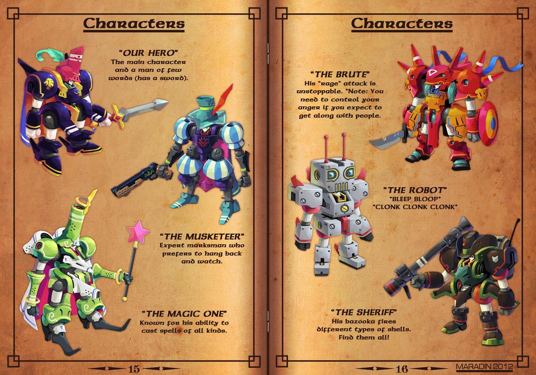 Gems of Castelaria Game Manual: Heroes by Nidaram