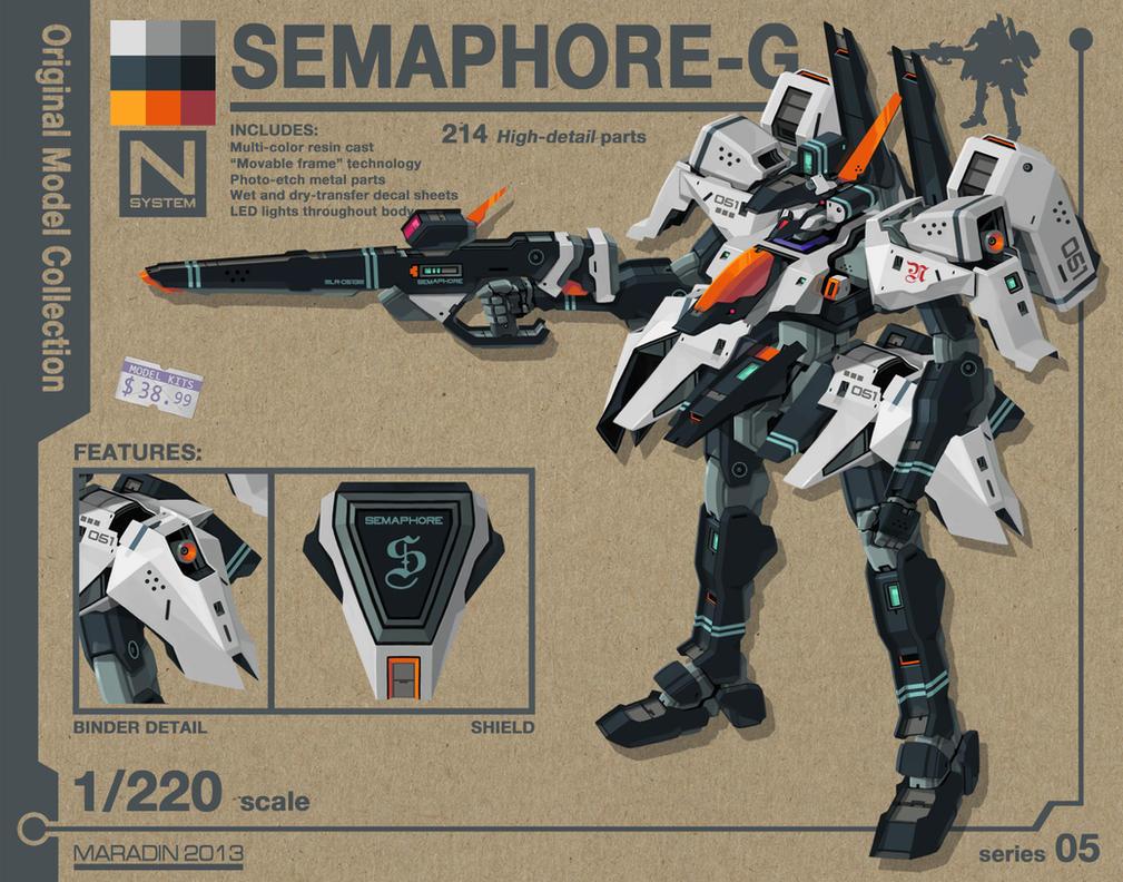 Semaphore Gundam by Nidaram