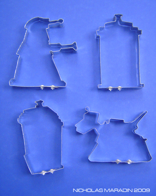 Doctor Who Cookie Cutter Set by Nidaram
