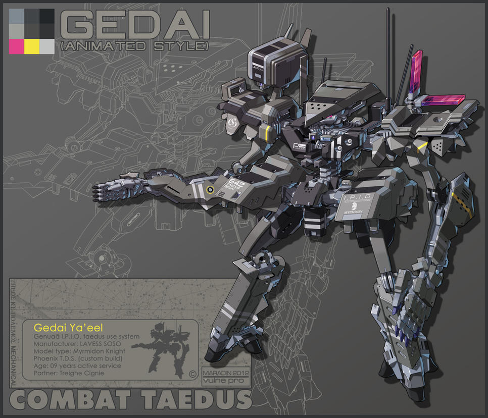 Theos Combat Taedus Gedai Ya'eel Animated Version by Nidaram