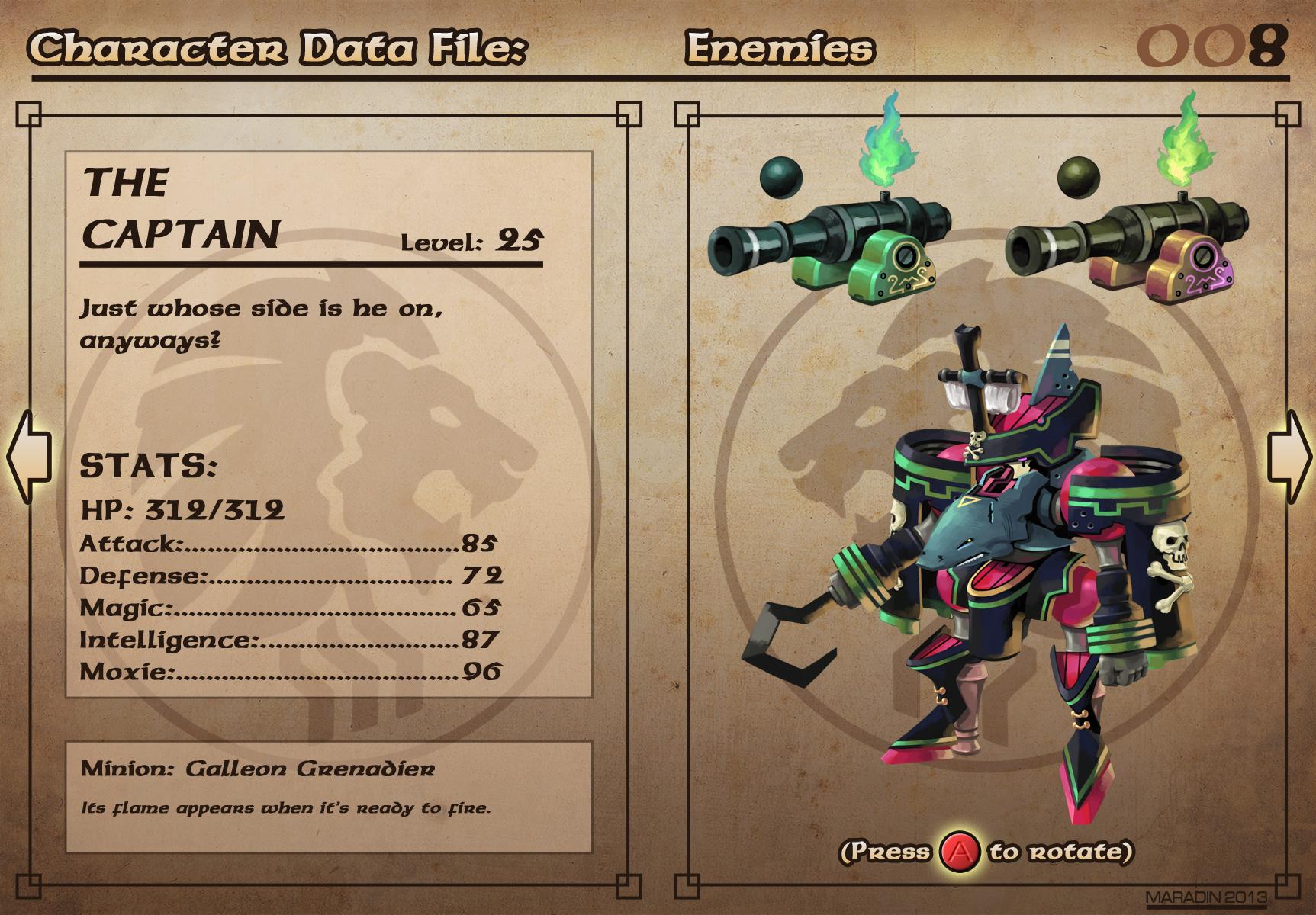 Castelaria Data File 08: The Captain by Nidaram