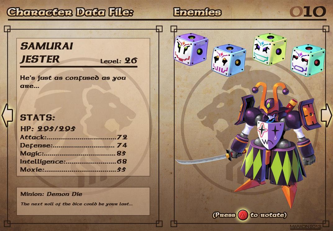 Castelaria Data File 10: Samurai Jester by Nidaram