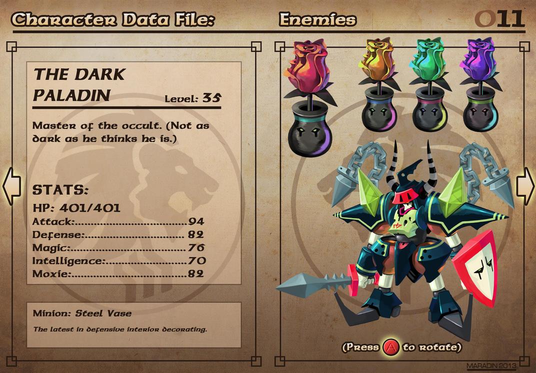 Castelaria Data File 11: The Dark Paladin by Nidaram