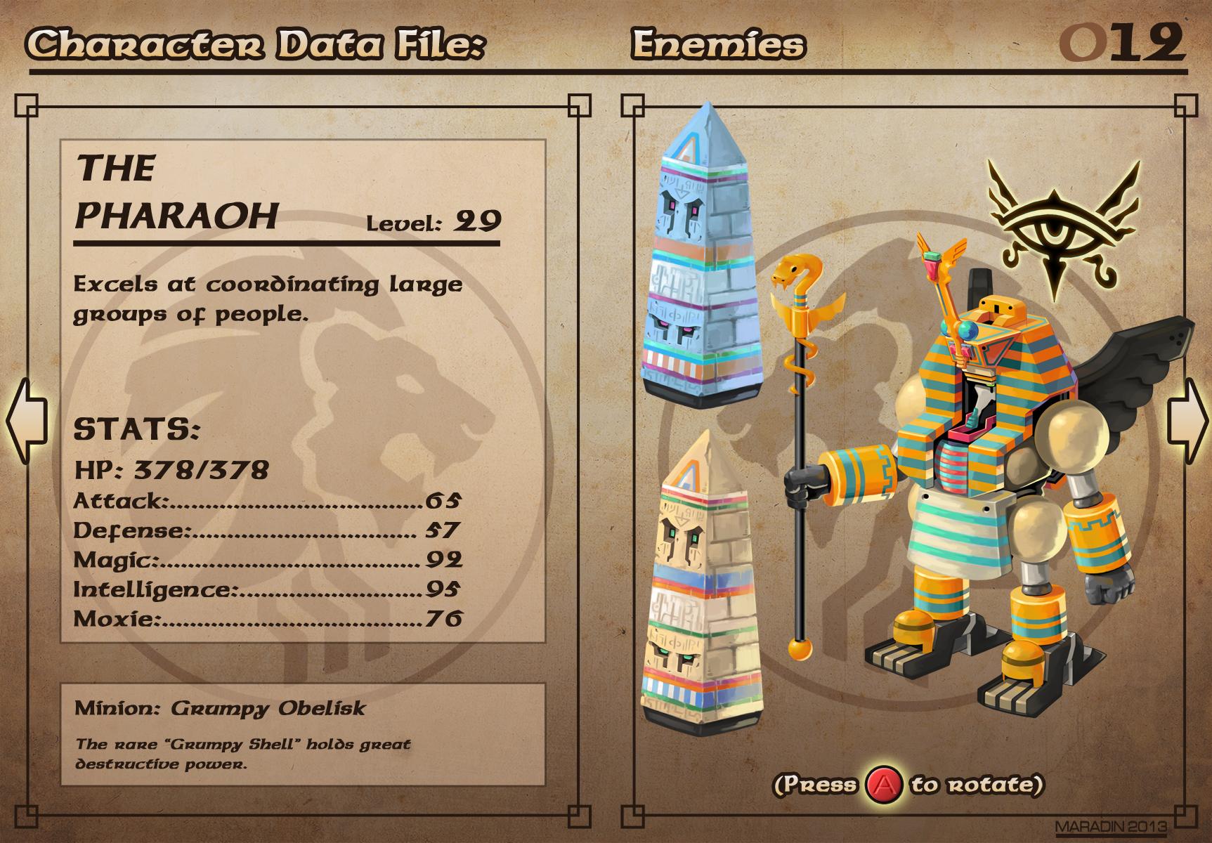 Castelaria Data File 12: The Pharaoh by Nidaram