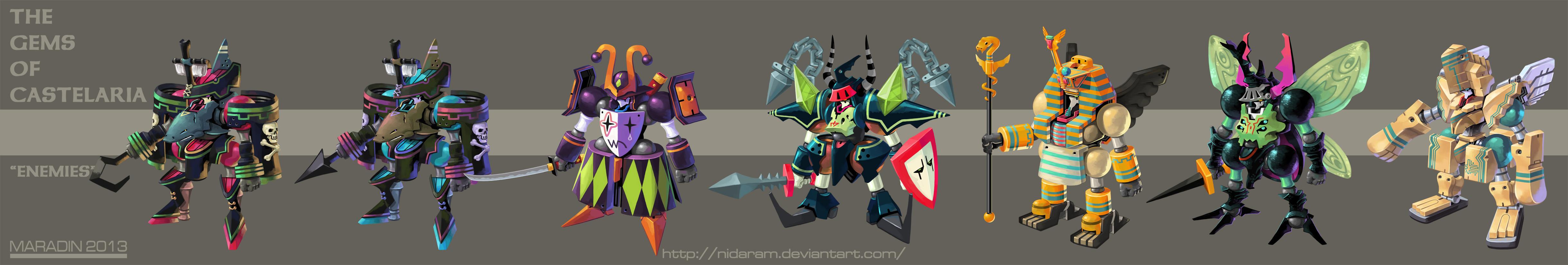 The Gems of Castelaria Group Lineup: Enemies by Nidaram