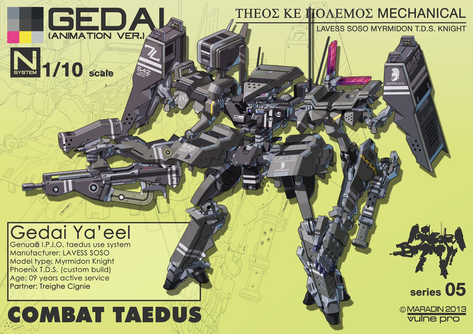 Combat Taedus Gedai Ya'eel Full Loadout by Nidaram