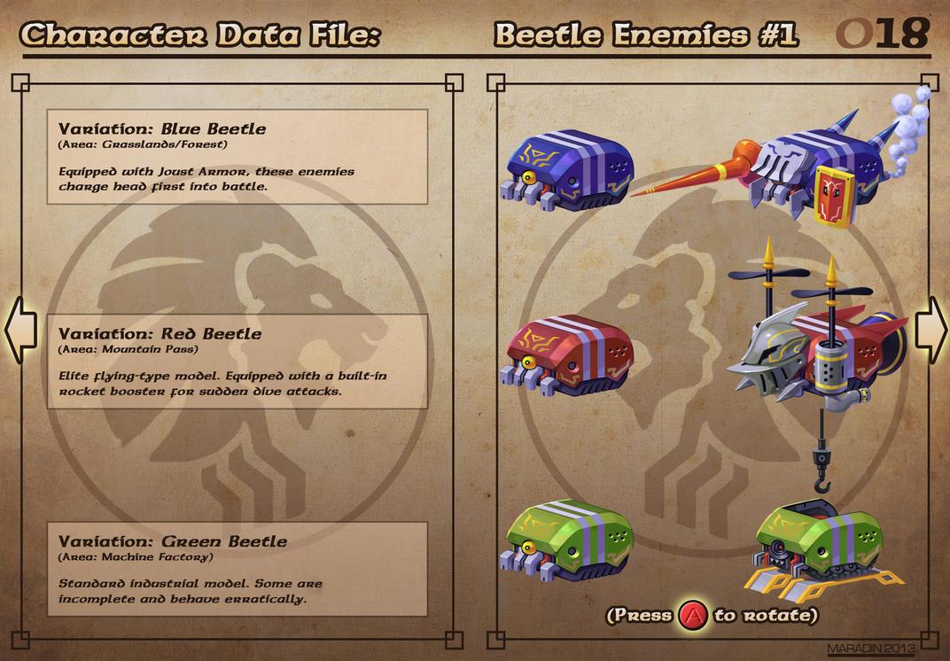Castelaria Data File 18: Beetle Enemies #1 by Nidaram