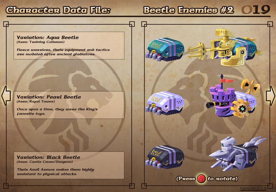 Castelaria Data File 19: Beetle Enemies #2 by Nidaram